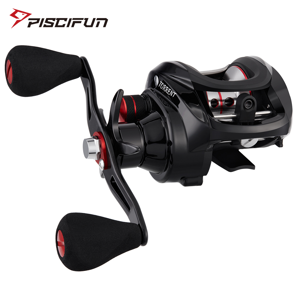 Piscifun Torrent fishing <font><b>Reel</b></font> 8.1kg Carbon Drag 7.1:1 <font><b>5.3:1</b></font> Gear Ratio 6 Bearings Magnetic Brake Low Profile Baitcasting <font><b>Reel</b></font> image