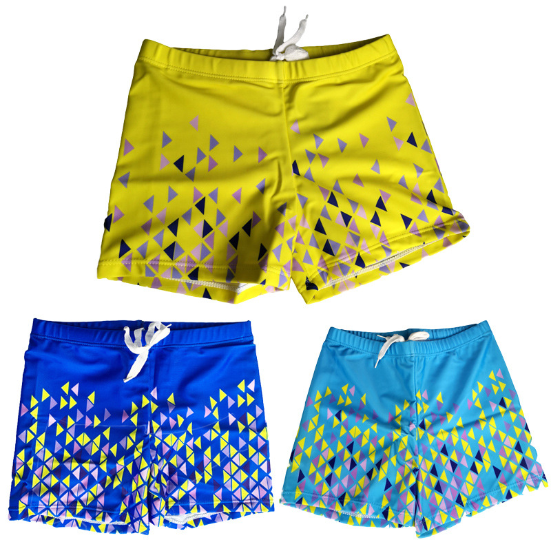2020 New Style Children Swimming Trunks Dacron Swimming Trunks Multi-color Selectable Solid Color Boy's Swimming Trunks