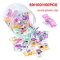 50/100/150PCs Sewing Clips Plastic Clips Quilting Crafting Crocheting Knitting Safety Clips Assorted Colors Binding Clips Paper