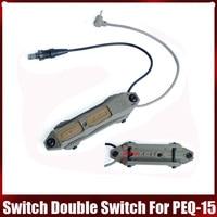 Elemento airsoft tático interruptor de pressão aumentada interruptor duplo para PEQ 15 PEQ 16A um peq airsoft dbal 2 ne04040|Luzes de armas|   -