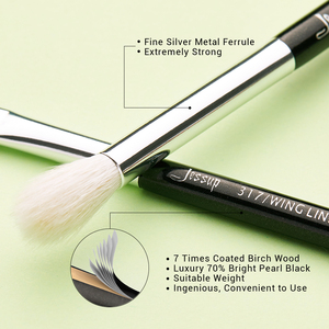 Image 3 - ג סאפ איפור מברשות סט מברשת איפור מברשת 15pcs שחור/כסף אייליינר Shader טבעי סינטטי שיער