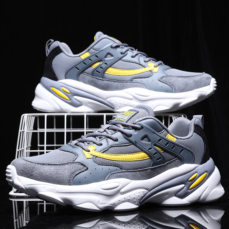 Spring Men Casual Shoes Fashion Mesh Light Breathable Sport Daddy Shoes Chaussure Homme Man Sneakers Outdoor Footwears 39-44