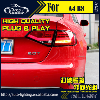 AKD Car Styling Tail Lamp for Audi A4 Tail Lights 2009-2012 A4 B8 LED Tail Light Signal LED DRL Stop Rear Lamp Accessories