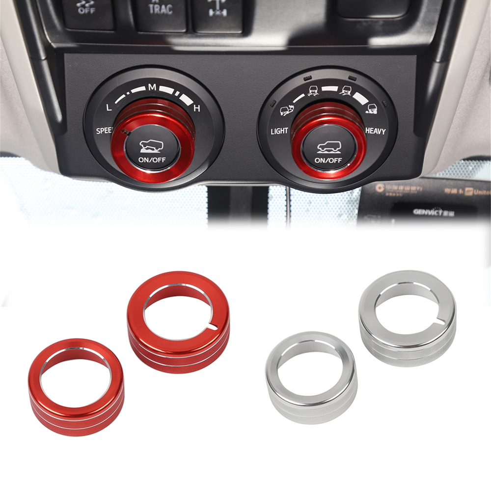Select Terrain Knob Ring Decoration For Toyota 4Runner 2010+ TRD Switch Button Cover Control Trim Surround Car Interior Styling