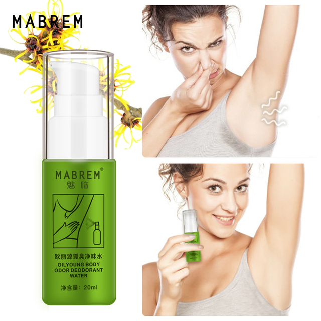 MABREM Body Odor Sweat Deodor Perfume Spray For Man and Woman Removes Armpit Odor and Sweaty Lasting Aroma Skin Care Spray 20ml 1