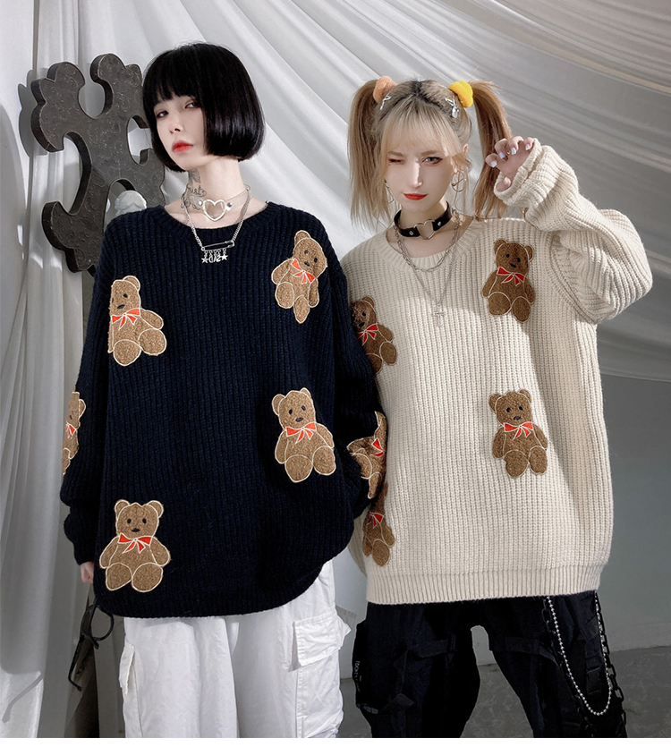 Женский вязаный свитер jing zhe теплый пуловер оверсайз в стиле