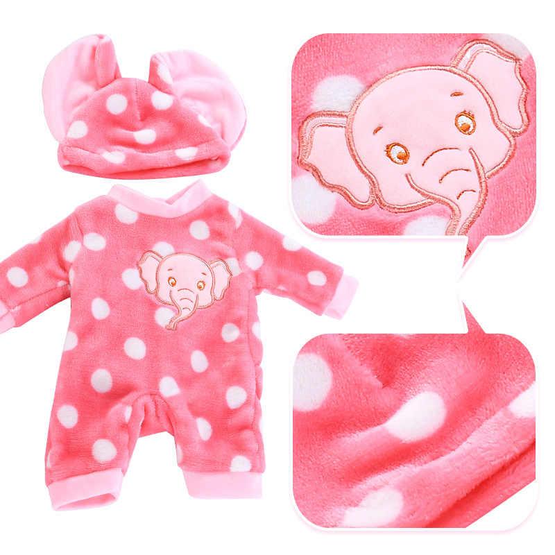 2 יח'\סט חליפה + נעלי בובות תלבושת עבור 43cm תינוק בובה חמוד מגשרים Rompers 17 אינץ Zapf בובת בגדים 044