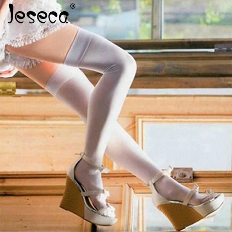 Jeseca New Sexy Velvet Women Stockings Flesh Above Knee Lingerie Sox Spring Autumn Long Sox Fashion Kawaii Girl Stockings