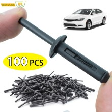100X plastique Rivet clip pare-chocs Fender Retenue Pour Ford GM Fastener Chrysler Jeep Wrangler 06-18 Dodge Avenger # OE 6506007AA(China)