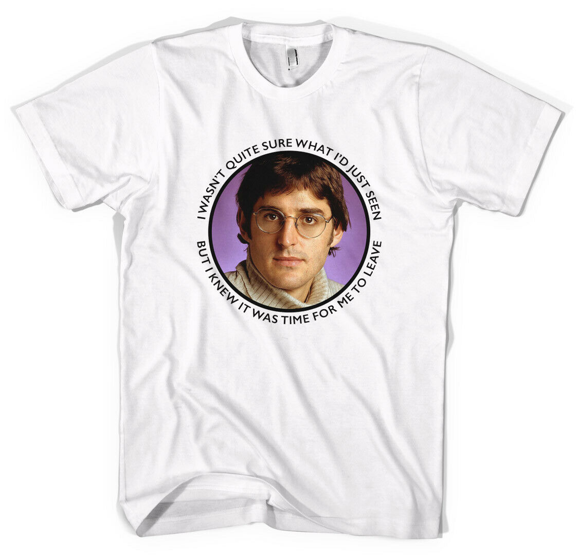 NEW Louis Theroux time for me to leave BBBC T-Shirt All Sizes Colours- show original title image