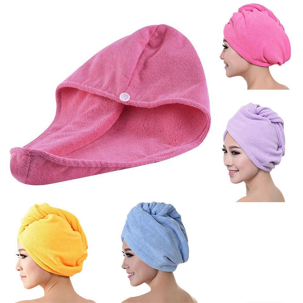 Hair Drying Towel Bathroom Microfiber Towel Rapid Drying Hair Towel Bath Towels For Adults Quick Dry Hair Hat Cap Head Wrap