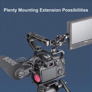 Image 5 - Алюминиевый корпус UURig для камеры Canon EOS 90D/80D/70D, с креплением на Холодный башмак, отверстие Arri 1/4, 3/8 дюйма, винт для микрофона, СВЕТОДИОДНЫЙ монитор