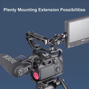 Image 5 - UURig alüminyum kamera kafesi Canon EOS 90D/80D/70D soğuk ayakkabı ile arriam delik 1/4 3/8 vida mikrofon monitör LED