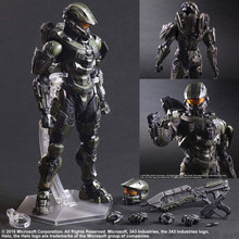 27cm Play Arts KAI HALO 5 guardianes No.1 Master Chief película Anime PVC figuras de acción juguete Anime colección modelo de juguete(China)
