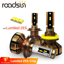 roadsun Car Headlight Bulb H7 LED H4 With Luxeon Lumiled ZES Chip 9005 9006 HB4 H11 H1 Led Headlight 12V 12000Lm Lamp For Auto(China)