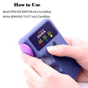 Image 2 - Handheld 125KHz EM4100 TK4100 RFID Copier Writer Duplicator Programmer Reader EM4305 T5577 Rewritable ID Keyfobs Tags