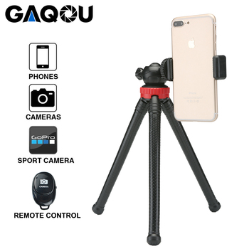 GAQOU Flexible Mini Tripod with Remote Control Octopus Mobile Phone Tripods Bracket Monopod Selfie Stick For iPhone Gopro Camera