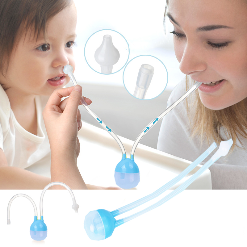 Baby Nose Clean Silicone Infant Nasal Aspirator Wash Your Nose Care Baby Nose Nasal Inhaler Infant Preventing Backflow Aspirator(China)