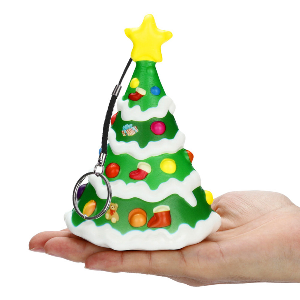 MUQGEW 2019 Squishies Kawaii Christmas Tree Squeeze Toys  For Adults Slow Rising Cream Scented  Stress Relief Toys JY8