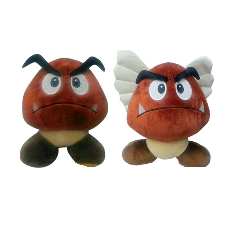 2 Styles 15cm Super Mario Bros Stuffed Toy Poisonous Mushroom
