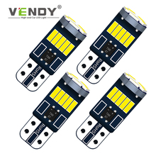цена на 4x W5W T10 Canbus Car LED Interior Light Auto Dome Width Bulb For renault megane 2 3 duster clio Logan fluence twingo koleos