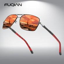 Мужские солнцезащитные очки fuqian квадратные поляризационные