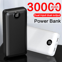 30000mAh Power bank External Battery Pack Charger Dual USB Fast Charging Powerbank Portable 30000mah Poverbank For Mobile phones most powerful solar power bank external battery power bank charger 30000mah for smart mobile phones tablet pc