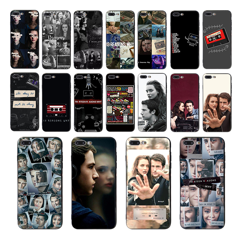 TV series <font><b>13</b></font> <font><b>Reasons</b></font> <font><b>Why</b></font> Poster Cover Black Soft Shell <font><b>Phone</b></font> <font><b>Case</b></font> for iPhone 8 7 6 6S Plus X XS MAX 5 5S SE XR 11 pro Funda Capa image