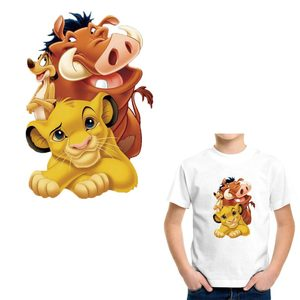 New Fashion Simba King Lion Patches Sticker On Clothes Heat Transfers Vinyl DIY A-level Washable Kid Clothes Sticker Decoration
