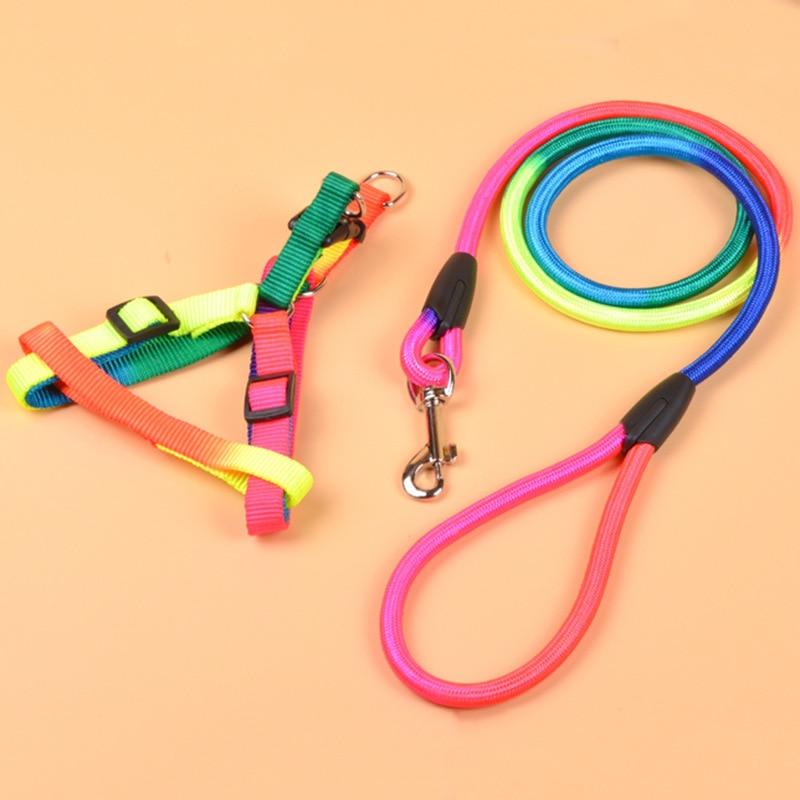 Hot Selling Medium-sized Dog Circle Hand Holding Rope Item Round Slings Teddy Samoyed Dog Pet Traction Suspender Strap