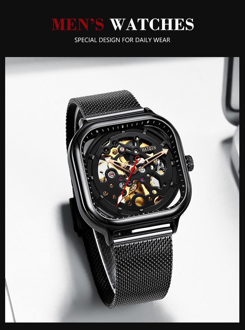 Haiqin moda esporte masculino relógios marca superior
