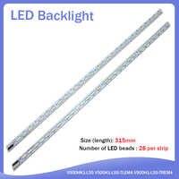 2 unids/lote V500HK1-LS5 tira de LED V500H1-LS5-TLEM4 V500H1-LS5-TREM4 28 LED 315MM partes utilizadas