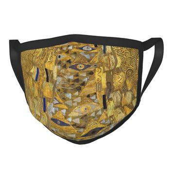 Gustav Klimt Portrait Of Adele Bloch-Bauer Reusable Mouth Face Mask Anti Haze Dustproof Mask Protection Cover Respirator Muffle image