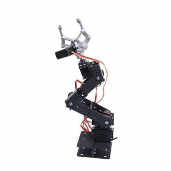 DIY 6-Axis Control Palletizing Robot Arm Model With Servos And Servo Arm Plate For Arduino UNO MEGA2560 Smart Robot Car industrial robot 3d rotate mechanical arm alloy manipulator 6 dof robot arm rack with 996 servos 1 alloy gripper controller
