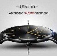 Ultra cienki zegarek mężczyźni na co dzień moda męska zegarki skórzany pasek biznes mężczyźni zegarki kwarcowe na prezent mężczyzna zegar relojes hombre 2019