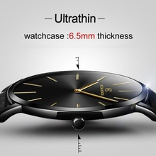 Ultra-thin Watch Men Casual Fashion Men's Watches Leather Ba