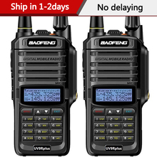 2Pcs Baofeng UV 9R Plusกันน้ำIP68 Walkie Talkie High PowerวิทยุVHF UHFวิทยุแบบพกพาเครื่องส่งรับวิทยุuv9R Plus