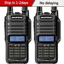 Baofeng walkie talkie UV 9R plus, dispositivo resistente al agua, IP68, radio bidireccional de alta potencia, VHF, UHF, UHF, plus, 2 uds.