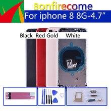 """4,7 """"Задняя крышка корпуса для 8 8G задняя дверь батарея чехол средняя панель Замена для iphone8 задняя крышка bttery корпус"""
