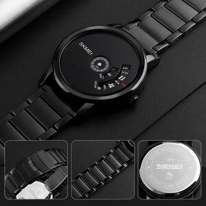 Image 5 - SKMEI Новые Креативные кварцевые мужские часы со стальным сетчатым ремешком, водонепроницаемые Модные повседневные мужские наручные часы, мужские часы