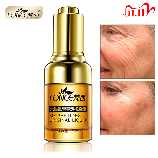 Fonce Anti Wrinkle Removerเซรั่มAnti Agingยกกระชับหน้า25 55อายุArgireline Six Peptides Essence 30Ml