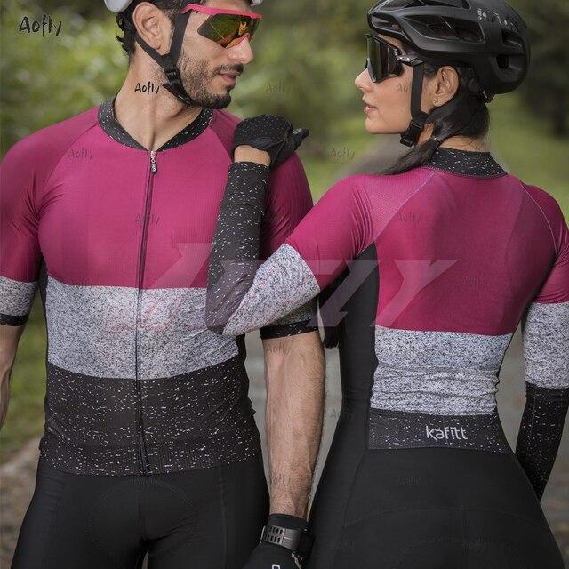 Kafitt jasper coleção manga longa ciclismo skinsuit pro feminino bicicleta macacão uniforme ciclismo triathlon ciclismo skinsuit 6