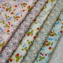 ZENGIA-tejido de costura para hacer ropa de niños, 50x140cm, jasmín, fresa, elfo, conejo, popelina