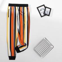 Letnie nowe spodnie z nadrukiem styl angielski 2020 spodnie Hip hopowe spodnie dresowe damskie pantalones hombre Joggers męskie spodnie w stylu Casual imprezowa tanie tanio BIACK Men Turkey Harem spodnie Mieszkanie Poliester Mikrofibra Kieszenie Luźne Anglia styl Lekki Suknem Kostki długości spodnie