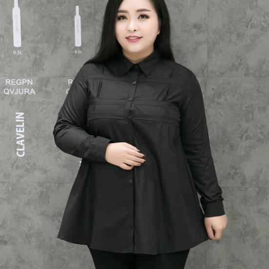 Tunik kadın gömlek 2020 zarif beyaz bluz Shirt kadın artı boyutu 2XL-9XL bayanlar ofis giyim resmi pamuk bluz gömlek M280