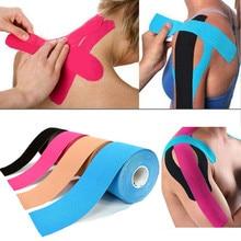 5M impermeable transpirable cinta para kinesiología de algodón deportes rollo elástico adhesivo vendaje muscular cuidado del dolor cinta rodilla codo Protector