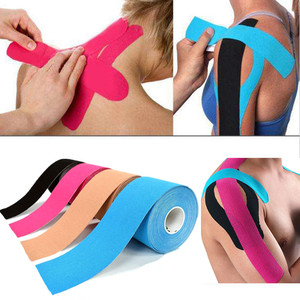 5M Waterproof Breathable Cotton Kinesiology Tape Sports Elastic Roll Adhesive Muscle Bandage Pain Care Tape Knee Elbow Protector(China)