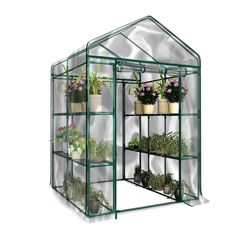 Housse de serre pour plantes de jardin, Anti-UV, étanche, Portable, PVC, 3 niveaux, P7Ding