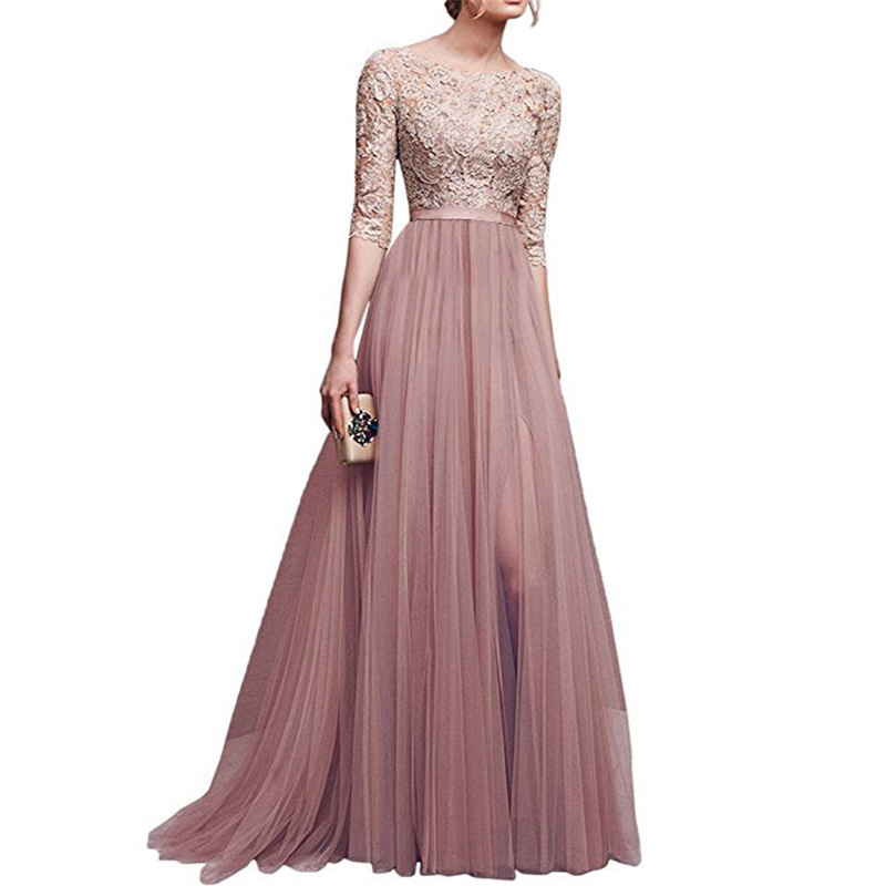 2018 Autumn And Winter Europe And America-New Style Evening Gown Hot Selling Chiffon Joint Long Skirts