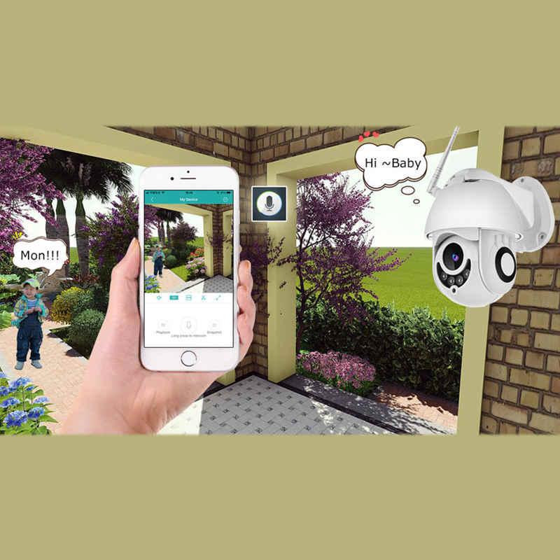 Wifi камера наружная камера наблюдения с датчиком PTZ Ip камера 1080p скорость купольная Cctv Камера Безопасности s с 64g Ip камера Wifi Внешняя 2mp Ir домашняя Surveilanc